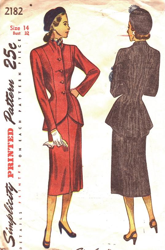 одежда 40 годов: